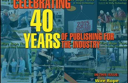 40 years of publishing wire rope news