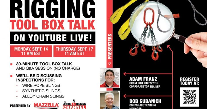 Mazzella Rigging Tool Box Talk Live