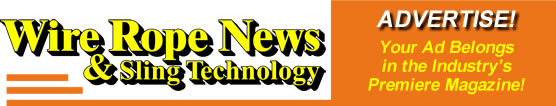 advertise in Wire Rope News & Sling Technology magazine