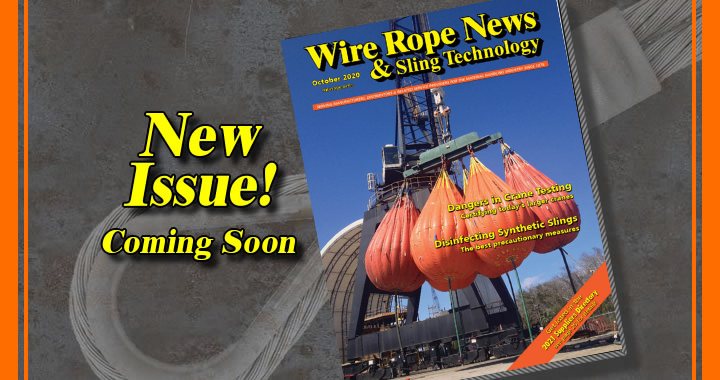 October issue of Wire Rope News magazine cover