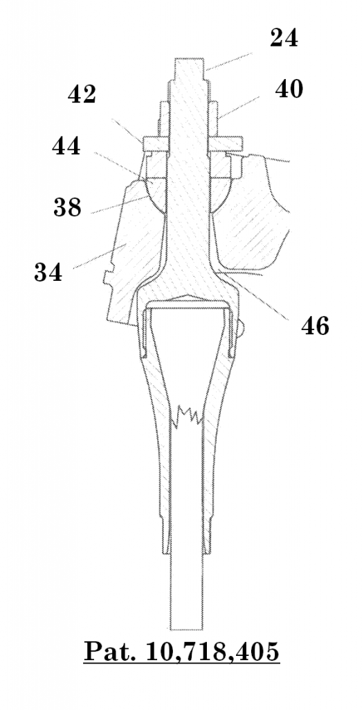 Figure 9: Sectional perspective view, showing an exemplary attachment between a termination and a collector.