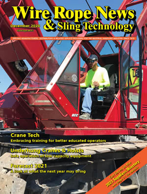 December 2020 issue of Wire Rope News & Sling Technology magazine COVER