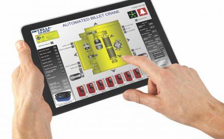 Columbus McKinnon Intelli-Guide HMI screen