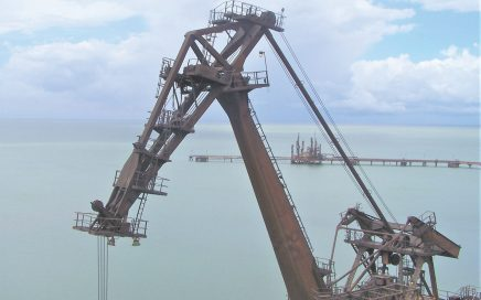 The level-luffer design feature increases crane's CG height.
