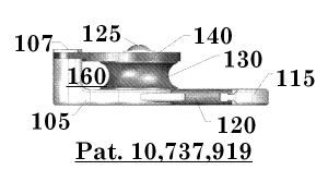Figure 3:. Drawing depicting a side view of the device for hoisting and lowering a load.