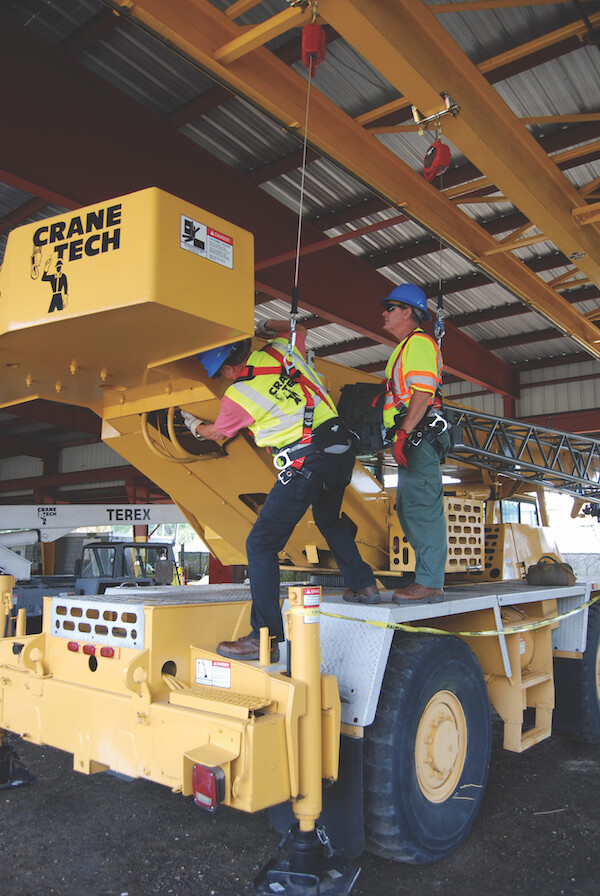 Protection While Inspecting - Training Center Mobile Crane Inspection Inspector Safety.
