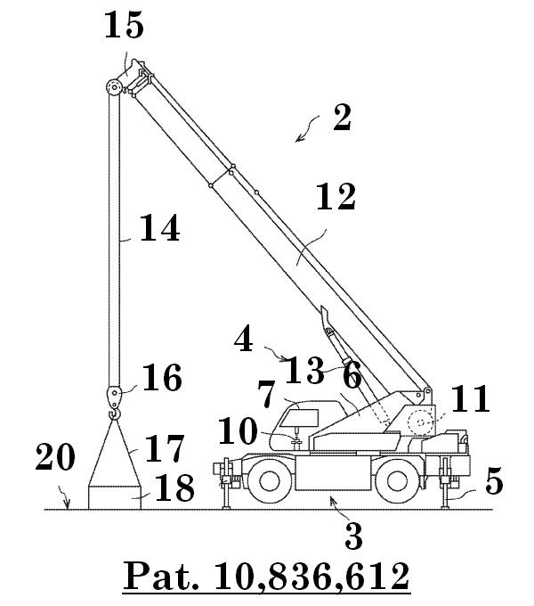 Illustration of a rough terrain crane - figure 1