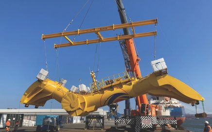 Blue X being lifted by Modulift Custom Frame