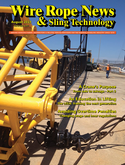 cover of August issue of Wire Rope News & Sling Technology
