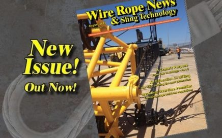 August issue of Wire Rope News and Sling Technology