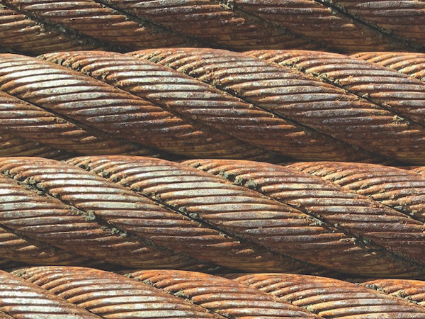 Fig. 3 Outside wire wear shown here; then wires start breaking.