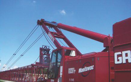 Manitowoc 777, hydraulic boom luffing, no running ropes